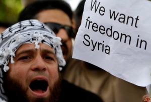Protest in Cyprus, Syria 2011