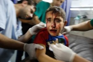 Gaza boy hit in July attacks