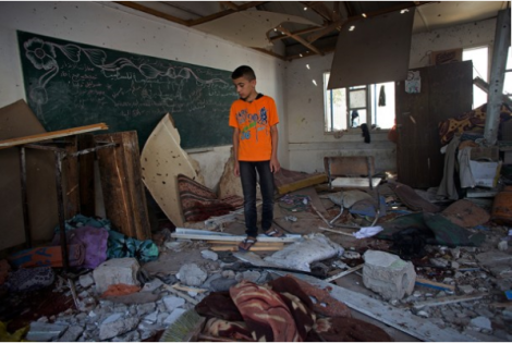 UN school hit by an Israeli strike this month