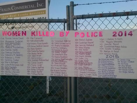 Women killed by police in 2014