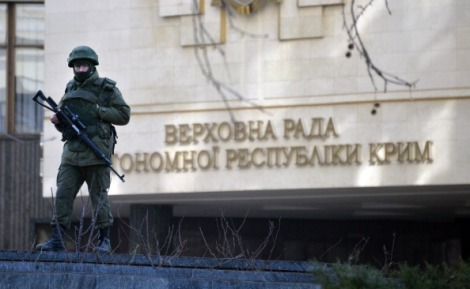 Unknown Gunmen Blocking Entrance of  Supreme Council of Crimea