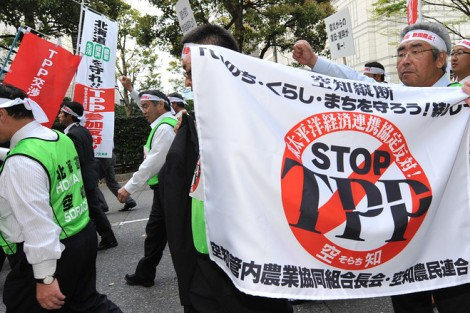 TPP Protest in Japan